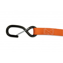 TIE DOWNS 25mm (2pcs.) - ORANGE