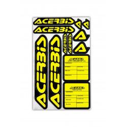 KIT DECAL LOGO ACERBIS - BLACK/YELLOW