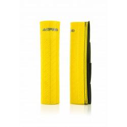 Protection Fourche avec Velcro - Caoutchouc Épais - 47-48 MM - Jaune