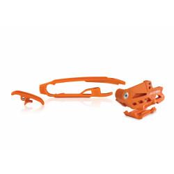 SET CHAIN GUIDE + CHAIN SLIDER KTM SX-SXF 16-20 + TE-FE-TC-FC 16-20 - ORANGE