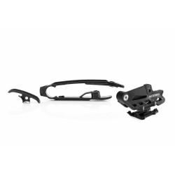 SET CHAIN GUIDE + CHAIN SLIDER KTM SX-SXF 16-20 + TE-FE-TC-FC 16-20 - BLACK