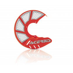 X-BRAKE FRONT DISC COVER VENTED - ORANGE/WHITE