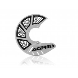 X-BRAKE FRONT DISC COVER VENTED - WHITE/BLACK