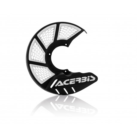 X-BRAKE FRONT DISC COVER VENTED - BLACK/WHITE
