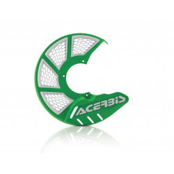 X-BRAKE FRONT DISC COVER VENTED - GREEN/WHITE