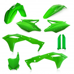 FULL PLASTIC KIT KAWASAKI KXF 250 17-20 - GREEN