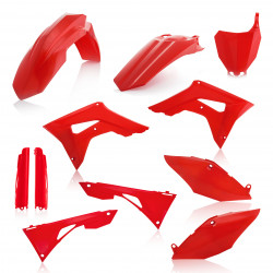 FULL PLASTIC KIT HONDA CRF450 + CRF250 19-20 / 7 pieces - RED
